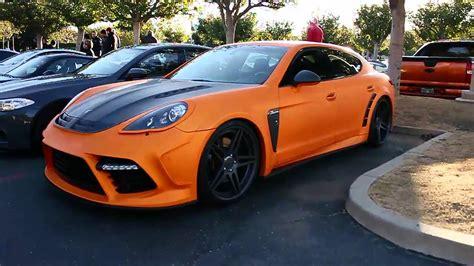 yg red porsche matte orange porsche panamera cars and coffee 2013 youtube