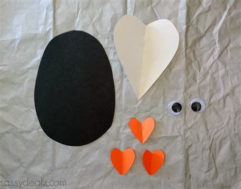 Penguin Paper Craft - paper penguin craft for crafty morning