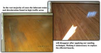 Refinished Hardwood Floors Before And After Before And After Hardwood Floor Refinishing Removal Of Staining In High Traffic Areas