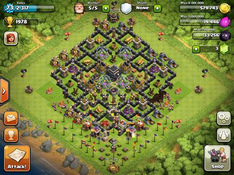 layout coc th9 clash of clans th 9 base layout newhairstylesformen2014 com