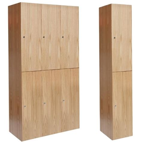Office Bookcases With Doors Wooden Club Lockers Double Tier Hallowell