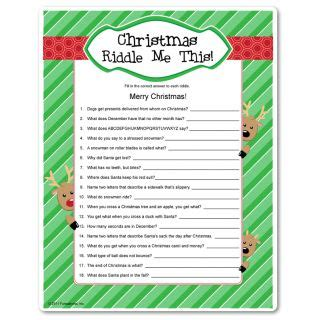 christmas games printable for adults riddles riddles and printable on