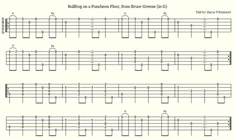What Is A Puncheon Floor by Time Banjo Tabs