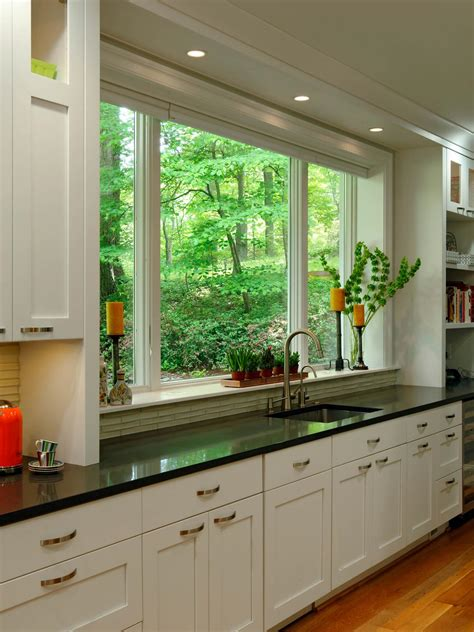 Ideas For Kitchen Windows Kitchen Remodeling Kitchen Window Treatments Ideas