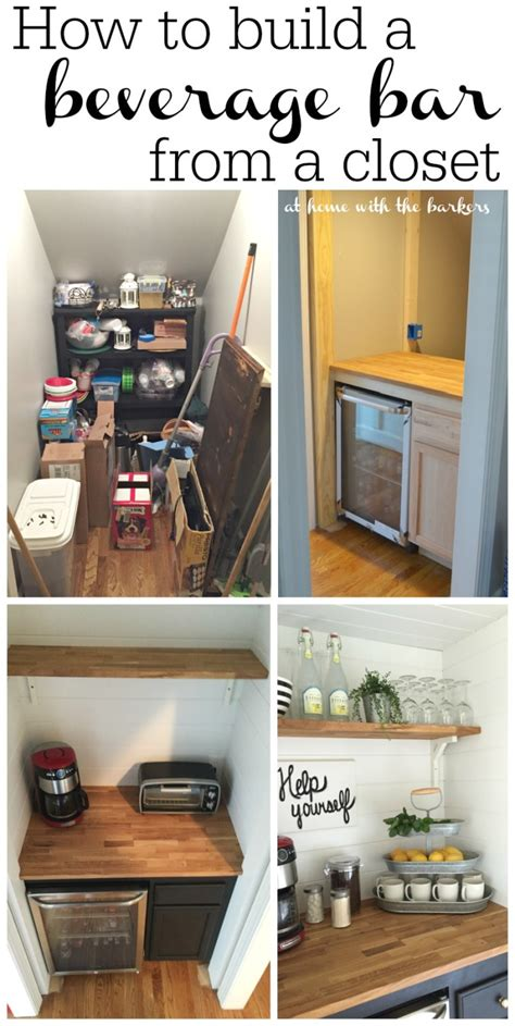 turning closet into bar how to build a beverage bar at home with the barkers