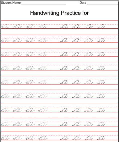 cursive writing worksheets for 5th graders writing in