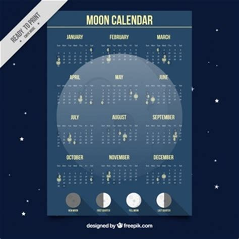 Calendario Da Lua Fases Da Lua Vetores E Fotos Baixar Gratis