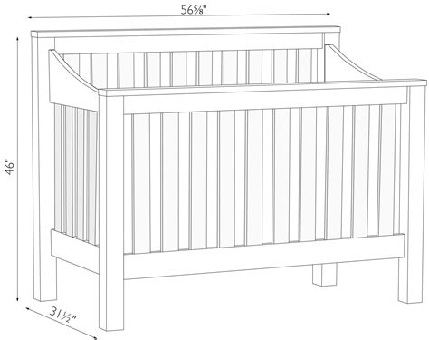 J R Woodworking Mission Crib Collection Baby Crib Size