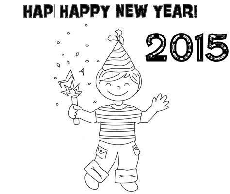 happy new year 2015 free coloring pages colour drawing free hd wallpapers happy new year 2015