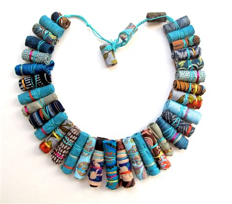 material for jewelry gilgulim fabric necklace artizan made