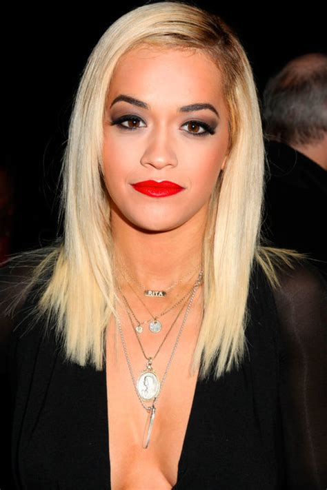 rita ora choppy hairstyles mid length hairstyles inspiration from the a list
