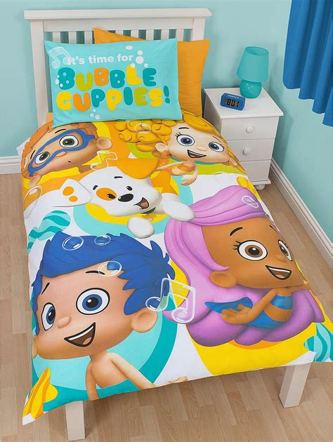 bubble guppies comforter bubble guppies splash panel duvet cover set single