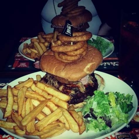 the flaming challenge burger the flaming grill burger challenge picture of the