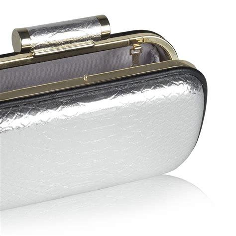 Silver Croco silver croco clutch ex0010 nissa