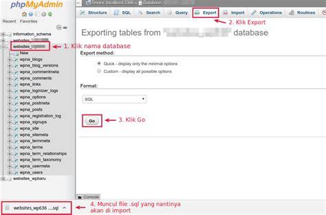 membuat database di wordpress cara memindahkan wordpress ke domain lainnya
