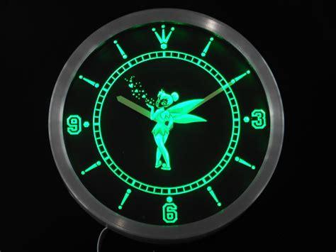 neon digital wall clock nc0222 tinkerbell neon sign led wall clock digital