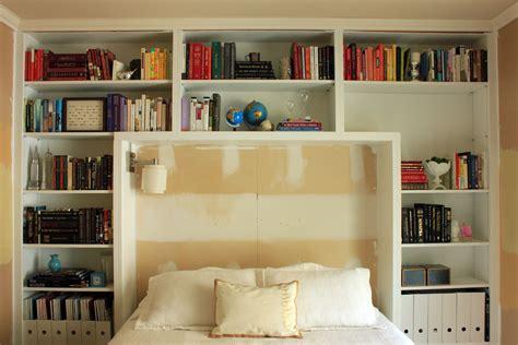 guest bedroom books  shelves