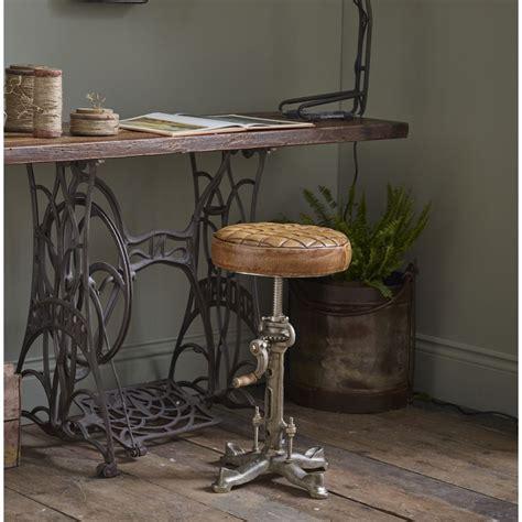 industrial leather bar stool swivel wind  adjustable