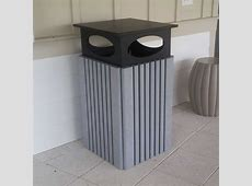 Trash Receptacle | Site Furnishings | Decorative Trash Can Exclamation Point Next To Wifi