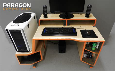 Wooden Gaming Desk Paragon Gaming Desk By Tom Balko At Coroflot