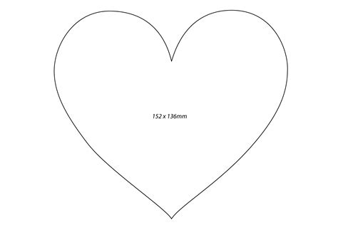large heart template printable clipart best