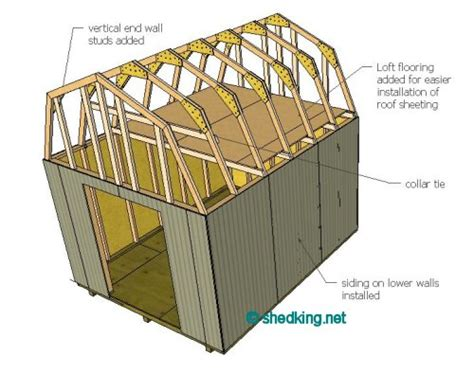 building a gambrel roof shed roof gambrel how to build a shed shed roof