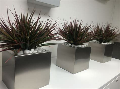 modern indoor planters 446 best images about stainless steel on pinterest