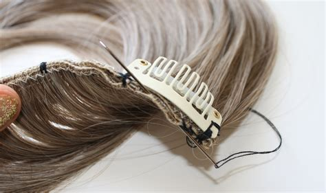 double wefted clip  hair extensions hairbun
