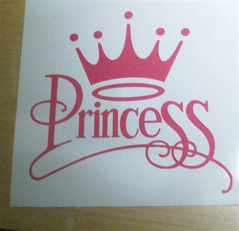 Girly Car Stickers quot crown princess quot girly car wall decal vinyl sticker ebay