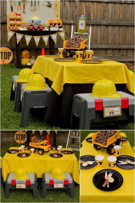 themes in black boy boys construction themed birthday party ideas spaceships