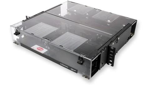Corning Rack Mount Fiber Enclosure cch 02u corning rack mount 2ru 4 panel fiber optic enclosure