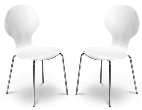 Kimberley White & Chrome Dining Chairs Sale Now On Your