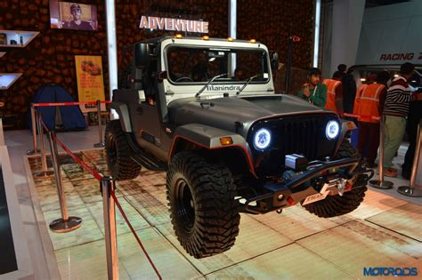 modified thar 2016 auto expo this modified mahindra thar looks like an