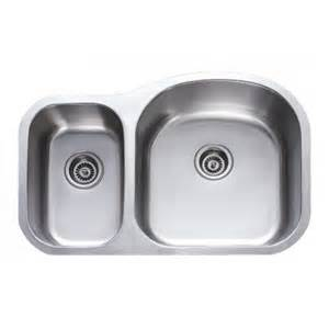 31 inch stainless steel undermount 30 70 bowl