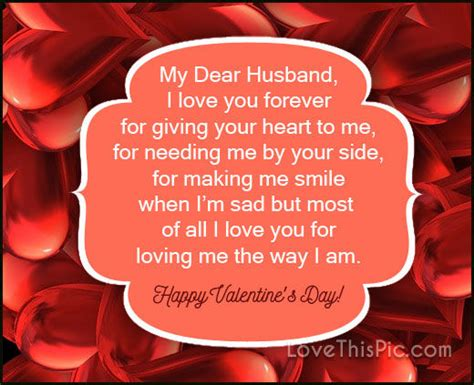what to get my husband for s day my dear husband i will you forever happy valentines
