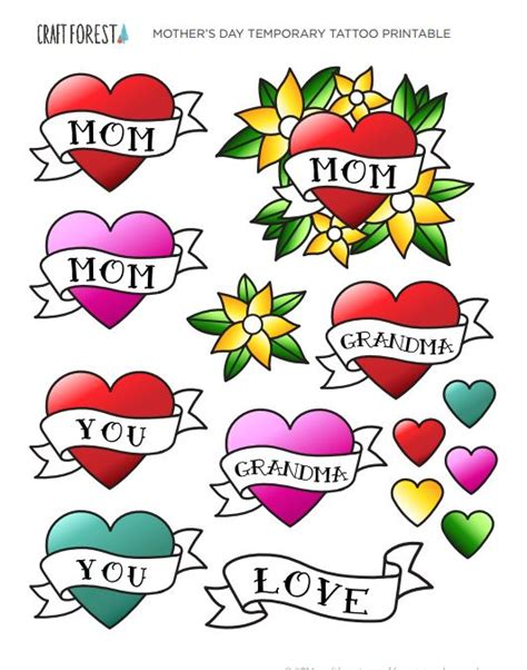 mother s day tattoo collection of 25 mothers day printables tattoos