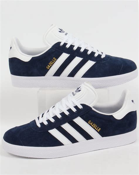 Adidas Nevy adidas gazelle trainers navy white originals shoes mens