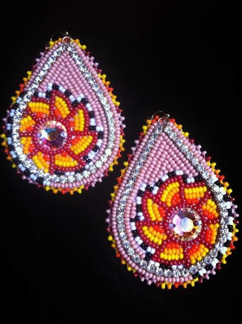 beaded earrings patterns pin by lewanna on beadwork i loooove