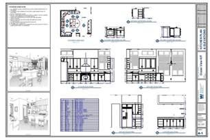 Kitchen Island Spacing kitchen plan amp elevation drawing