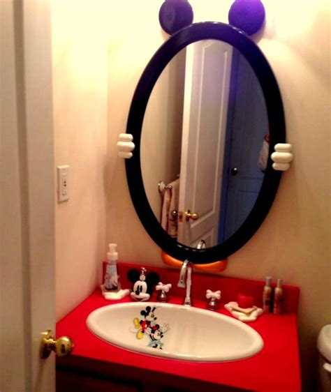 mickey mouse bathroom mirror mickey mouse bathroom mirror cute homescorner com