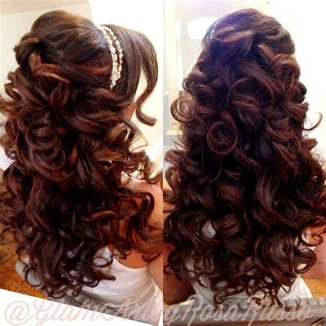 quince hairstyles curly hair quinceanera hair projects to try pinterest wedding