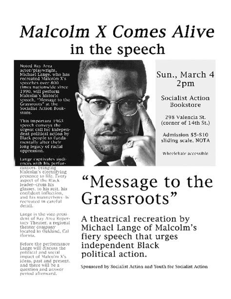 malcolm x from political eschatology to religious revolutionary studies in critical social sciences books message to the grass roots