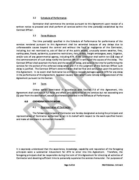 professional contract template professional services agreement free