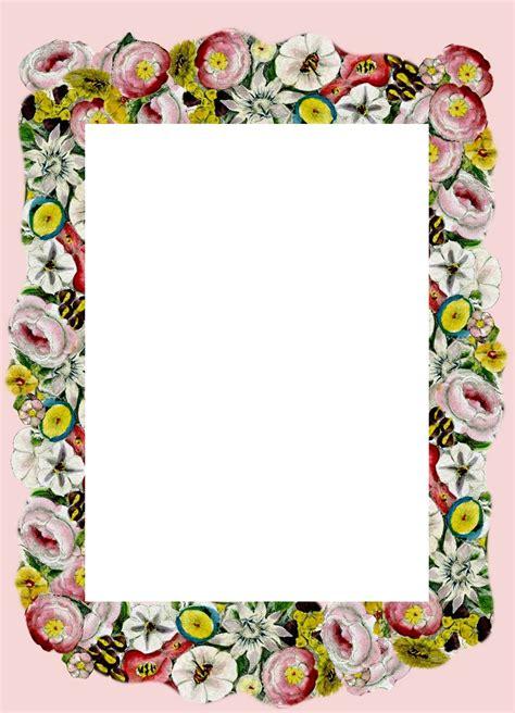 printable floral stationary meinlilapark free printable vintage flower stationery