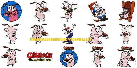 courage the cowardly villains courage the cowardly characters embroidery machine designs characters