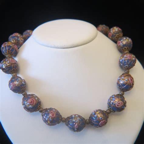 vintage murano glass bead necklace vintage murano venetian wedding cake glass bead