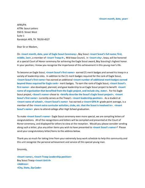 Reference Letter Exle For Eagle Scout Eagle Scout Recommendation Letter Letter Of Recommendation