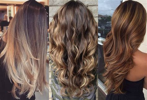 Long Brown Hairstyles With Parshall Highlight How To Go | long brown hairstyles with parshall highlight how to go
