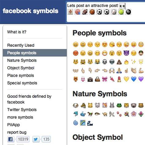 imagenes simbolos navideños para facebook facebook s 237 mbolos emoticones caras figuras signos e iconos