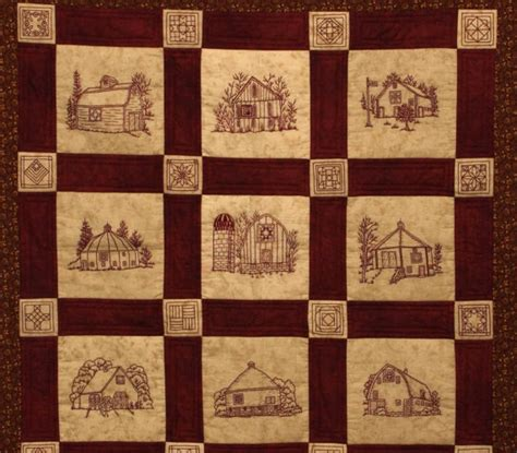 quilt pattern etsy quilt barns quilt pattern redwork by wellingtonhousedesig